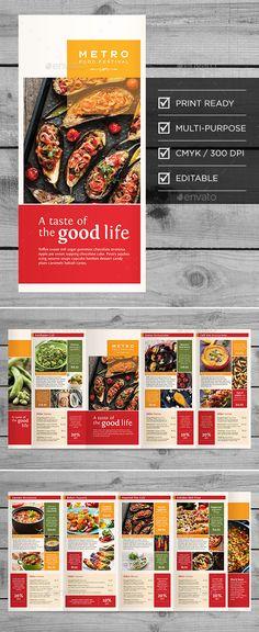 Five-Fold Multipurpose Media Brochure - Brochures Print Templates