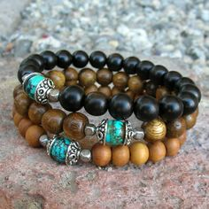 Confidence and communication mala bracelet trio from LovePrayJewelry.com. Yes, I'd like this too.
