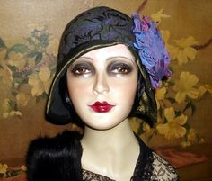 Gorgeous Flapper Hat OOAK Brocade Cloche Couture 1920s Vintage Gatsby Flair | eBay