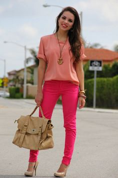 look con pantalones de colores - Buscar con Google