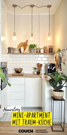 Oursweetliving& Favorite Things # Apartment Kitchen Mini Apartment with Dream Kitchen: W . Diy Apartment Decor, Apartment Kitchen, Apartment Living, Home Furnishings, Home Furniture, Kitchen Decor, Sweet Home, Bedroom Decor, Kitchens