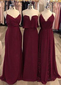 d56d2dcb9c8 Burgundy A-line Long Prom Dress Custom-made Bridesmaid Dress Fashion Winter Formal  Dress YDP0403