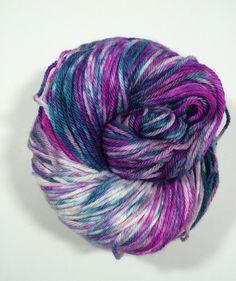 Sport weight Hand dyed  extra fine merino nylon by FlockandNeedle