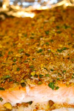 Pistachio Crusted Salmon. Oh... Crap... I need to make this.