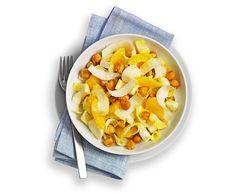 Chicoréesalat mit Orangen und Kichererbsen - Rezept - Saisonküche