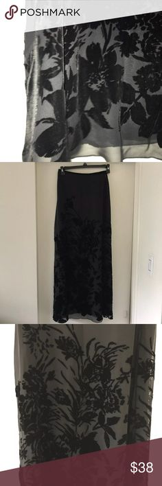 Chiffon Long Skirt Sz6 Like new Great for special occasion or just wear it with boots Skirts Maxi