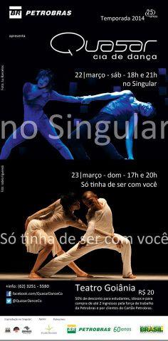 Só tinha de ser com você Data: 23/03/2014 Horário: 17h e 20h  Local: Teatro Goiânia Todos os eventos de Goiânia no aplicativo Oigoiania para Iphone e Android. http://www.oigoiania.com.br