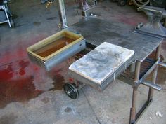 Fire bricks and quench pan    Modular Welding Table - WeldingWeb™ - Welding forum for pros and enthusiasts