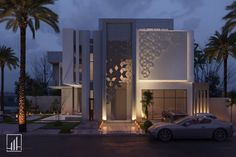 Modern Small House Design, Modern Villa Design, House Front Design, Cladding Design, Facade Design, Exterior Design, Modern House Facades, Modern Architecture House, Detail Architecture