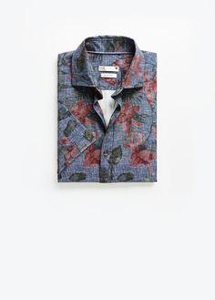 Koszula tropik krótki rękaw - Koszule dla Mężczyzna | OUTLET