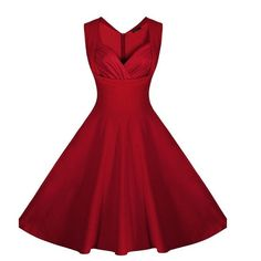 Wish | Women's Cut Out Polka Dot Swing Elegent Vintage Sleeveless V-Neck Vintage Casual Cocktail Party 1950'S Retro Bridesmaid Dress S-XXL