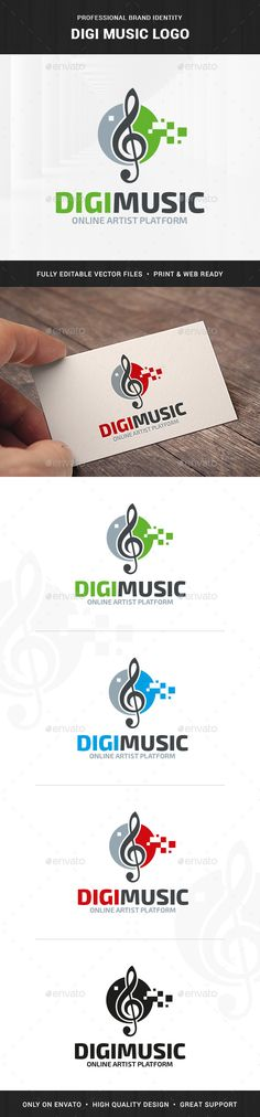 Digi Music Logo Template — Transparent PNG #pixels #blog • Available here → https://graphicriver.net/item/digi-music-logo-template/15923235?ref=pxcr