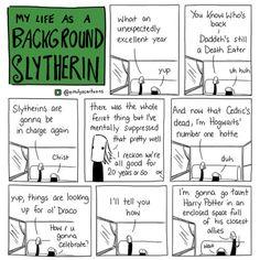 My Life as a Background Slytherin Harry Potter Comics, Harry Potter Jokes, Harry Potter Fandom, Harry Draco, Draco Malfoy, Hermione, Background Slytherin, Slytherin Pride, Ravenclaw