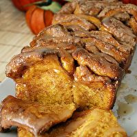 Pull-Apart Cinnamon Sugar Pumpkin Bread by Chelsey Bogaards