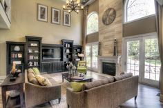 fireplaces with windows beside - Google Search                                                                                                                                                                                 More