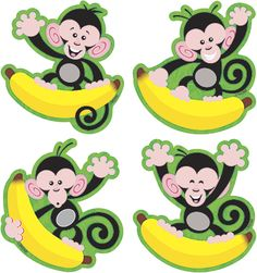 T-10818 Monkeys and Bananas Mini Accents Variety Pack