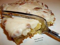 White Sheet Cake W/ Pecan Glaze Recipe