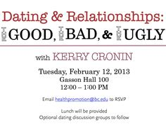 Our next #BeWell talk is this Tuesday with Kerry Cronin!