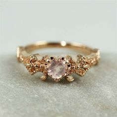 Vintage ROSE GOLD heart-shaped morgagnite stone ༺ Beautiful ~ Inside and Out ༻