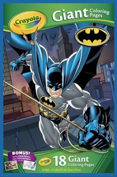 Batman 18 Giant Coloring Pages By Crayola 1799