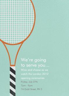 """Tennis Racquet"" Invitation, Paperless Post"
