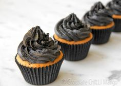 Black liquorice cupcakes - Chocolate chilli mango's tribute to Audrey Hepburn