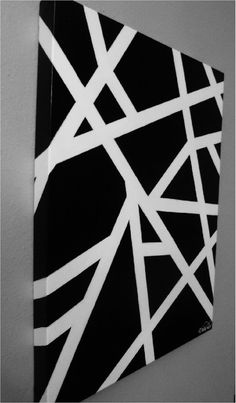 Tangled Web in black and white by erinsmodernart on Etsy