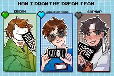 Dream Team, Techno, Dream Friends, Minecraft Fan Art, Fandoms, Dream Art, Youtubers, Anime Manga, Cute Art