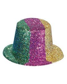 Mardi Gras Glitter Top Hat