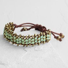 One of my favorite discoveries at WorldMarket.com: Pacific Opal Rhinestone Friendship Bracelet