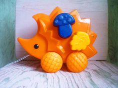 Vintage hedgehog toy Soviet plastic toy Russian by CuteVintageRu