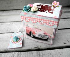 Scrappiness Exploding Boxes, Mini Albums, Decorative Boxes, Paper Crafts, Cards, Scrapbooking, Home Decor, Decoration Home, Tissue Paper Crafts