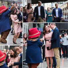 The Duke & Duchess Of Cambridge And Prince Harry Of Wales Made A Surprise Visit To London Paddington Station To Meet Children Who Were About To Set Off On A Trip On The British Pullman. This Is The Second Engagement We Have Seen The Duchess Of Cambridge And Her Baby Bump via ✨ @padgram ✨(http://dl.padgram.com)