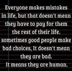 As humans we all make mistakes