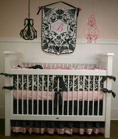 Baroque Custom Crib Bedding | Baby Boutique | Custom Girl's Crib Bedding