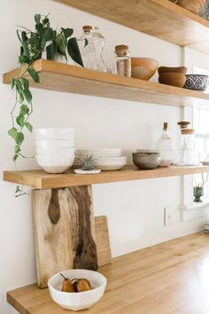 Your place to buy and sell all things handmade White Riveted Bowl - Small Rustic Kitchen, New Kitchen, Kitchen Decor, Kitchen Ideas, Decorating Kitchen, Little Kitchen, Scandinavian Kitchen, Kitchen Shelves, Open Shelves