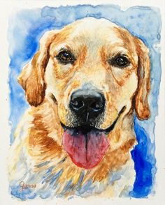 Custom Watercolor Pet Portrait on High Quality Paper by GannaArt