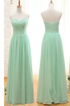 90f594bb567 Simple Sweetheart Long Chiffon Mint Green Bridesmaid Prom Dresses K107 Dress  Prom
