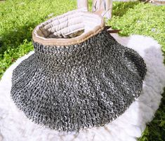 Padded gorget with chainmail by Leoricus.deviantart.com on @DeviantArt
