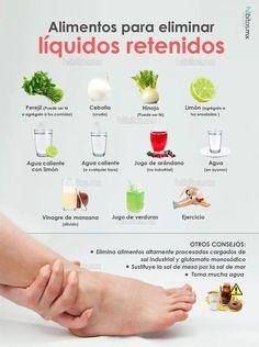 Hábitos Health Coaching   ALIMENTOS PARA ELIMINAR LÍQUIDOS RETENIDOS