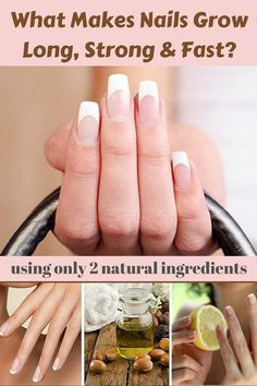 Effective Solutions for Long & Strong Nails at Home The dream of every girl and woman is to have long and strong nails. Argan oil and lemon are magical ingredients! health/health tips/home remedies/health tips for women/ Make Nails Grow, Grow Long Nails, Grow Nails Faster, Hard Nails, Nail Care Tips, Nail Growth, Strong Nails, Natural Health Tips, Nails At Home
