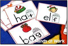 December literacy center- ending sounds