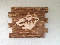 Minnesota Wild Hockey wood sign by WallyWallhangers on Etsy