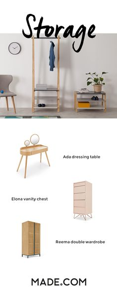 Dont sacrifice style when it comes to furniture storage. Our designers have nifty solutions for all your storage needs from wall shelves to sideboards to benches with storage space.