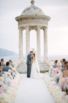 One insanely memorable ceremony: http://www.stylemepretty.com/destination-weddings/2015/04/10/romantic-summer-spanish-wedding/ | Photography: Jimena Roquero - http://www.jimenaroquero.com/