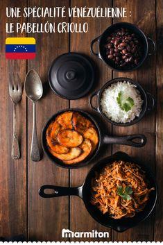 On craque pour cette recette exotique de Pabellón Criollo, venu du Vénézuela ! #recettemarmiton #marmiton #recette #recettefacile #recetterapide #faitmaison #ideesrecettes #inspiration #cuisinevenezuelienne #venezuela #recetteexotique Iron Pan, Stage, Kitchen, Food, Venezuela, Recipes, Seasonal Recipe, Quick Recipes, Cooking Recipes