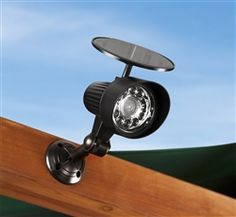 A Solar Spot Light for your playset! Great idea for night-time play.