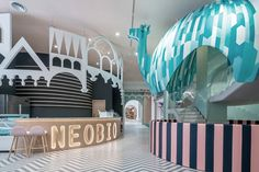 Neobio Kids Restaurant (Shanghai, China). Design: X+Living