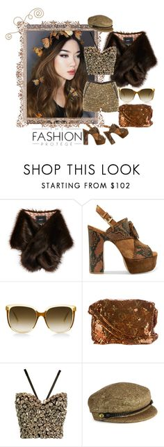 """""""Brown Fashion"""" by housebybianca ❤ liked on Polyvore featuring Unreal Fur, Ash, Steven Alan, Louis Vuitton, Dolce&Gabbana and Eugenia Kim"""