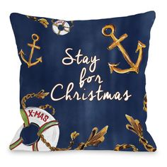 Stay For Christmas Pillow